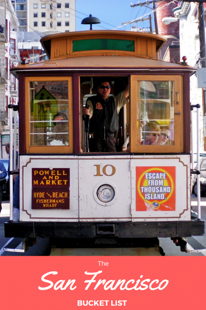 This is the #SanFrancisco bucket list that has a bit of everything. Don't go on your trip to California without it!