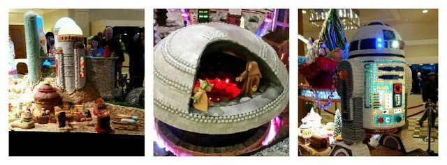 The Sheraton's gingerbread village made to resemble Star Wars