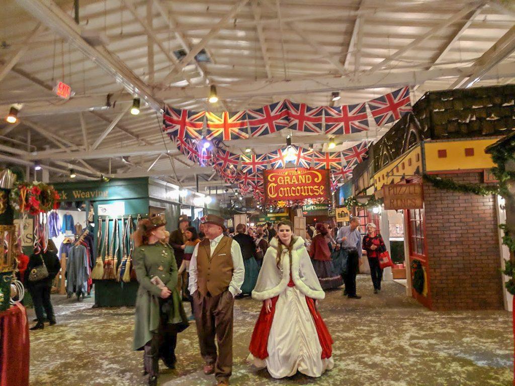 People in Victorian era dress