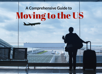 Moving to the US, woman at airport
