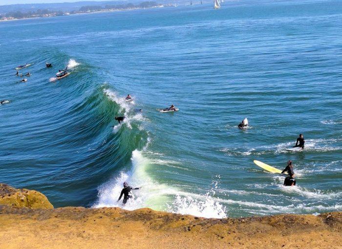 Surfers enjoy a Santa Cruz Weekend