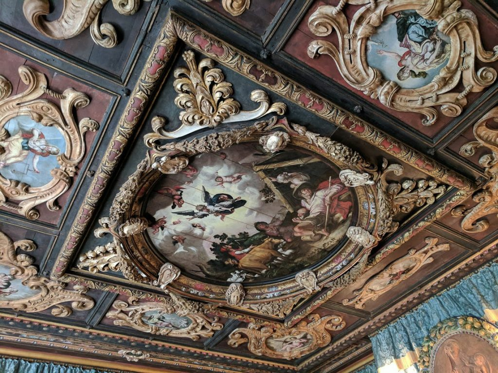 Ceiling in Hearst Castle's Doge's Suite
