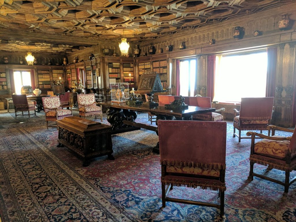Hearst Castle's Library and antiquities collection