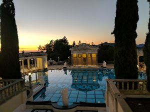 Roman colonade of Hearst Castle's Neptune Pool