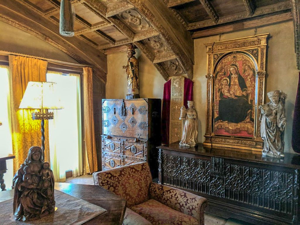 Private sitting room at Hearst Castle