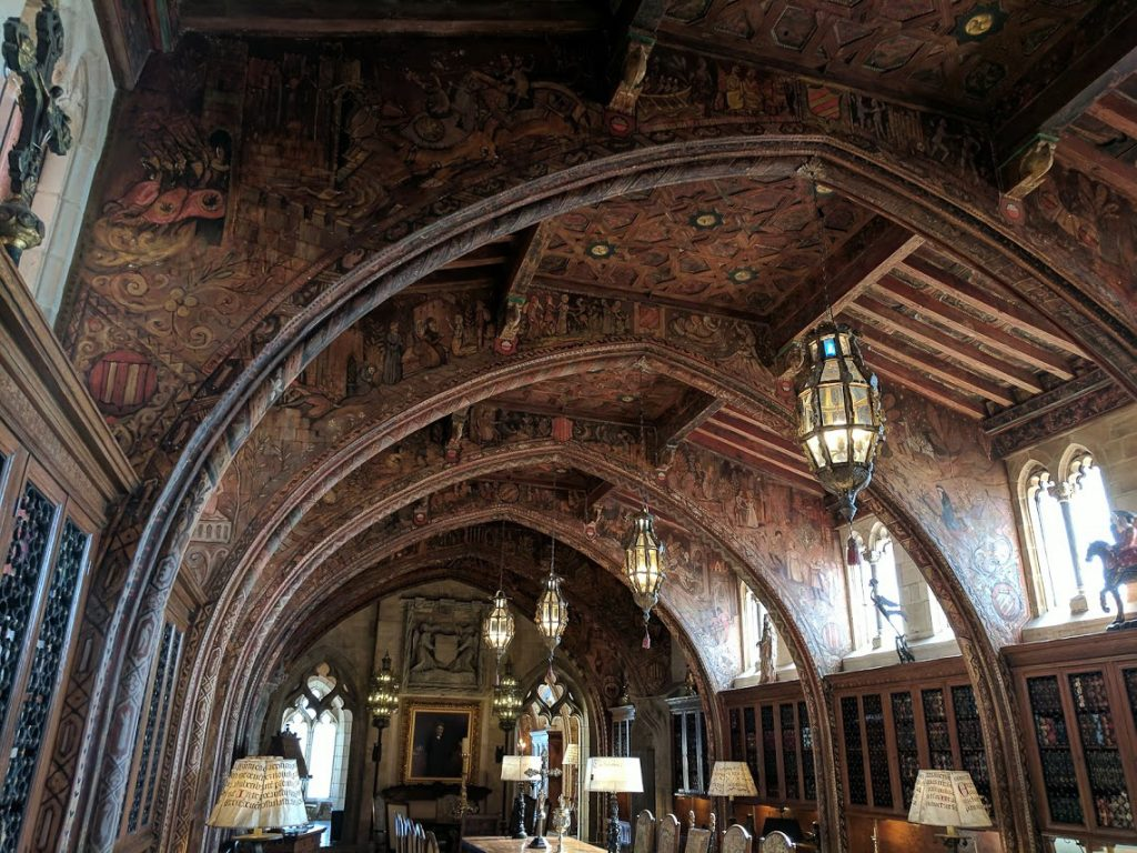 Arched ceiling of William Randolph Hearst's study