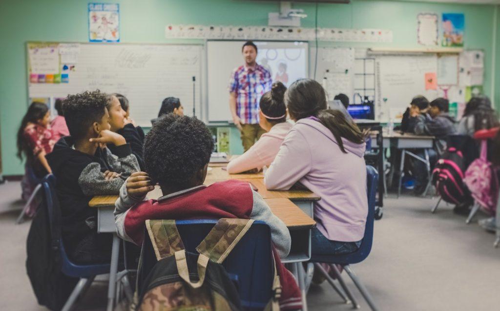 Children in US school