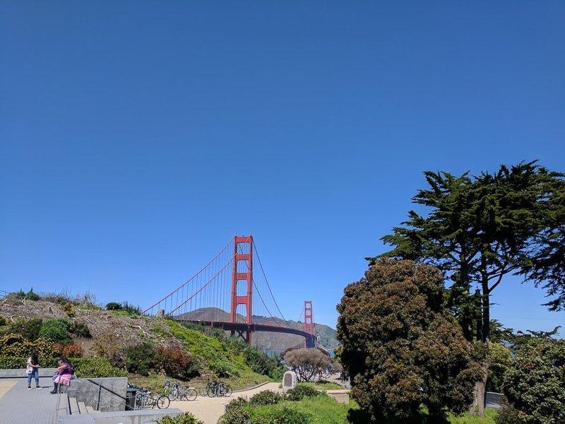 Golden Gate Bridge lookout