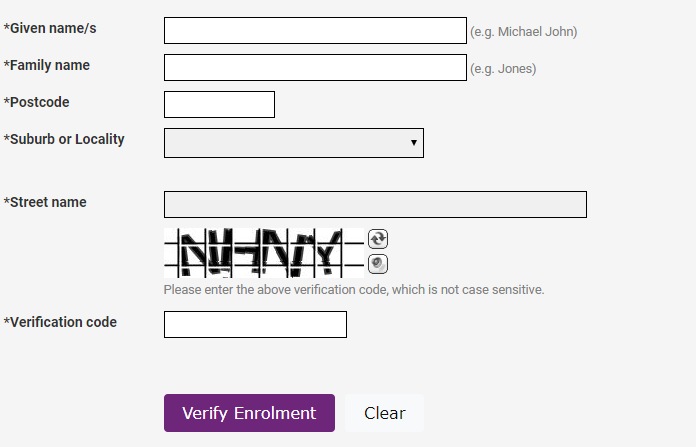 Check my Australian enrollment form