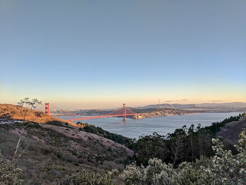San Francisco's Golden Gate Bridge from Marin County
