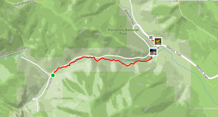 Pinnacles National Park day trip map