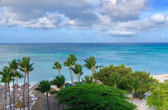 Aruba hotel view