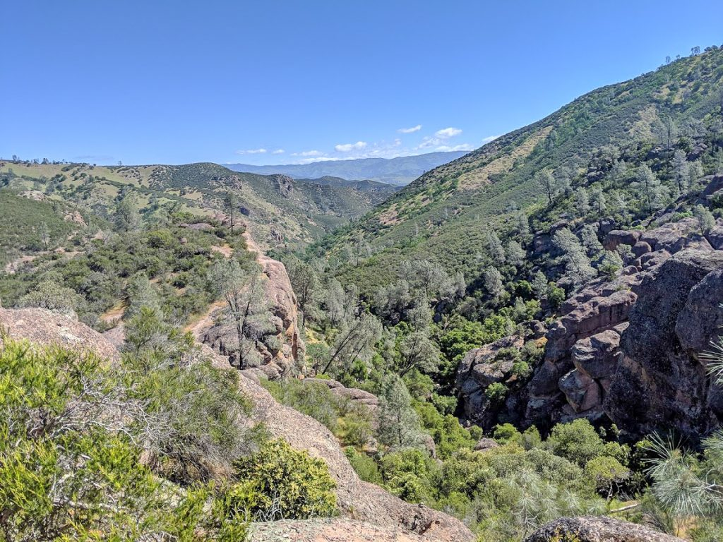 Valley views from the Rim Trail of Pinnacles National Park
