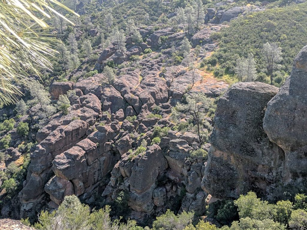 Volcanic rock at Pinnacles National Park